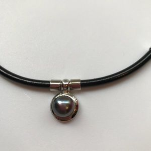 Jewelry - Black Pearl on Silver Necklace